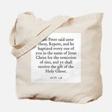 ACTS  2:38 Tote Bag