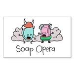 Soap Opera Rectangle Sticker