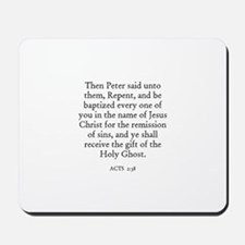 ACTS  2:38 Mousepad