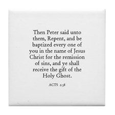 ACTS  2:38 Tile Coaster