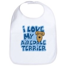 I Love my Airedale Terrier Bib