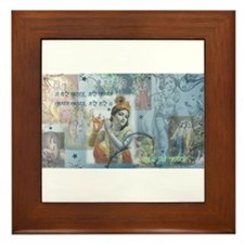 Lord Krishna Framed Tile