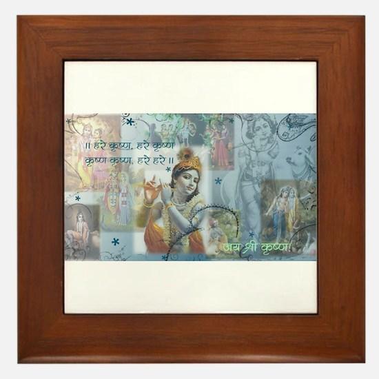 Lord Krishna Framed Tile