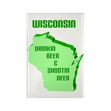 Beer & Deer Rectangle Magnet