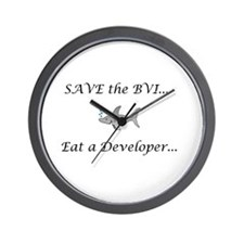 Save the sharks Wall Clock