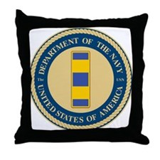 Navy Chief Warrant Officer 2 Throw Pillow