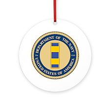 Navy Chief Warrant Officer 2 Ornament (Round)