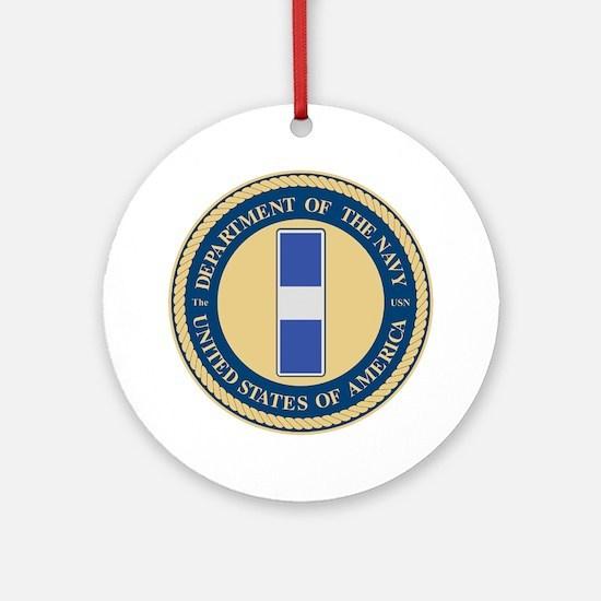 Navy Chief Warrant Officer 3 Ornament (Round)