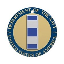 Navy Chief Warrant Officer 4 Ornament (Round)