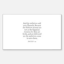 EXODUS 1:19 Rectangle Decal