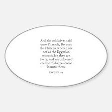 EXODUS 1:19 Oval Decal