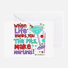 Make Martinis Greeting Card