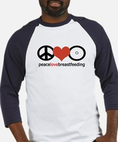 Peace, Love & Breastfeeding Baseball Jersey