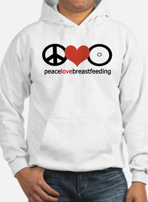 Peace, Love & Breastfeeding Hoodie