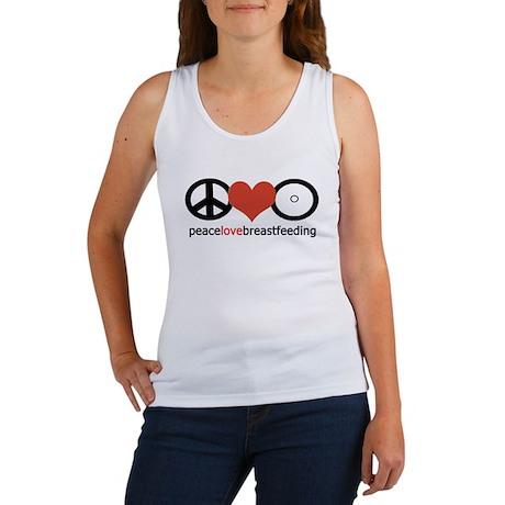 Peace, Love & Breastfeeding Women's Tank Top