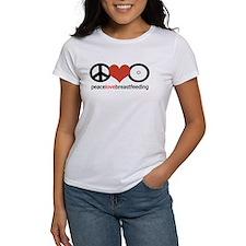 Peace, Love & Breastfeeding Tee