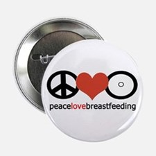 "Peace, Love & Breastfeeding 2.25"" Button"