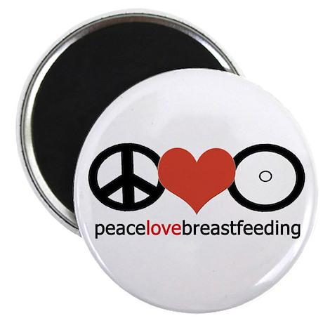 Peace, Love & Breastfeeding Magnet