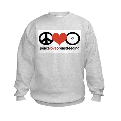 Peace, Love & Breastfeeding Kids Sweatshirt