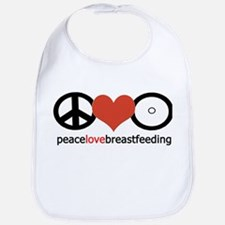 Peace, Love & Breastfeeding Bib