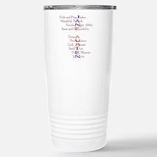 Jane Austen books2 Travel Mug