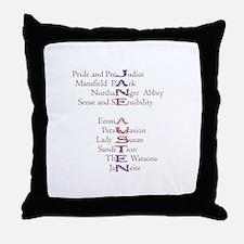 Jane Austen books2 Throw Pillow