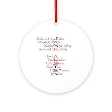 Jane Austen books2 Ornament (Round)