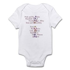 Jane Austen books2 Infant Bodysuit