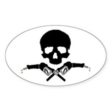 Gas Pirate Flag Oval Decal