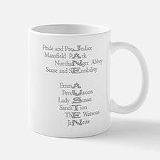 Jane Austen Books 3 Mug