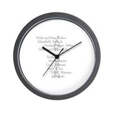 Jane Austen Books 3 Wall Clock