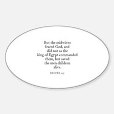 EXODUS 1:17 Oval Decal