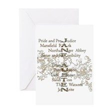 Jane Austen Books 5 Greeting Card