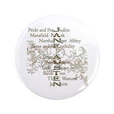"""Jane Austen Books 5 3.5"""" Button"""