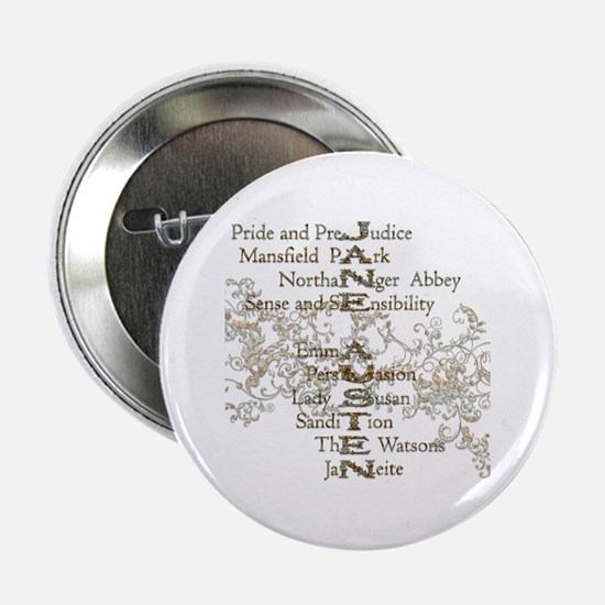 "Jane Austen Books 5 2.25"" Button"