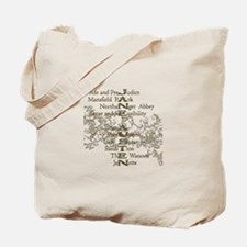 Jane Austen Books 5 Tote Bag