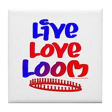 Live Love Loom Tile Coaster