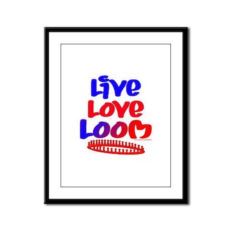 Live Love Loom Framed Panel Print