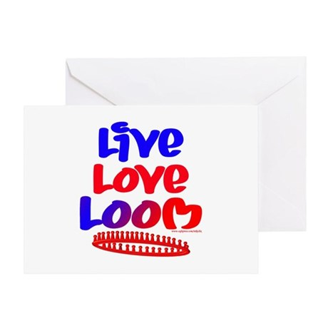 Live Love Loom Greeting Card