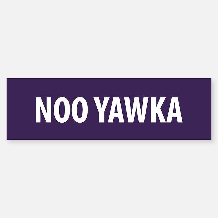 Noo Yawka Bumper Bumper Bumper Sticker