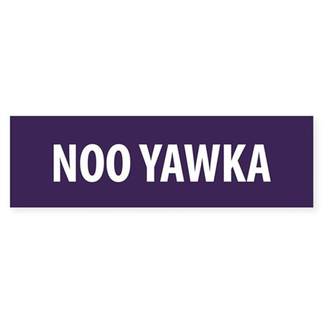 Noo Yawka Bumper Sticker
