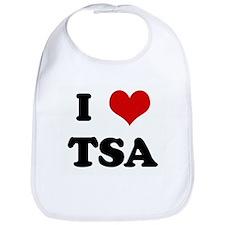 I Love TSA Bib