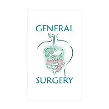 Gen Surg Team Rectangle Sticker 10 pk)