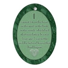 Darcy Quote Oval Ornament
