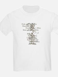 Jane Austen Books 6 T-Shirt
