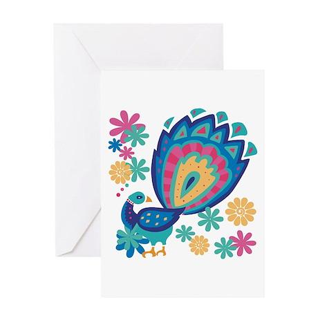Pretty Peacock Six Greeting Card