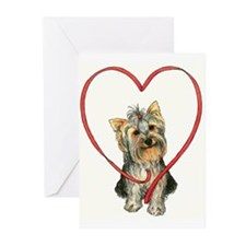 Love Your Yorkie Greeting Cards (Pk of 20)