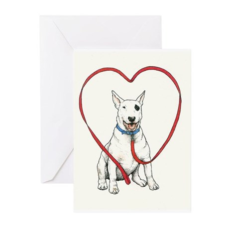Love Your Bull Terrier Greeting Cards (Pk of 10)