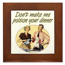 Poison Dinner - Framed Tile