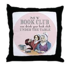 Cute Tea books Throw Pillow
